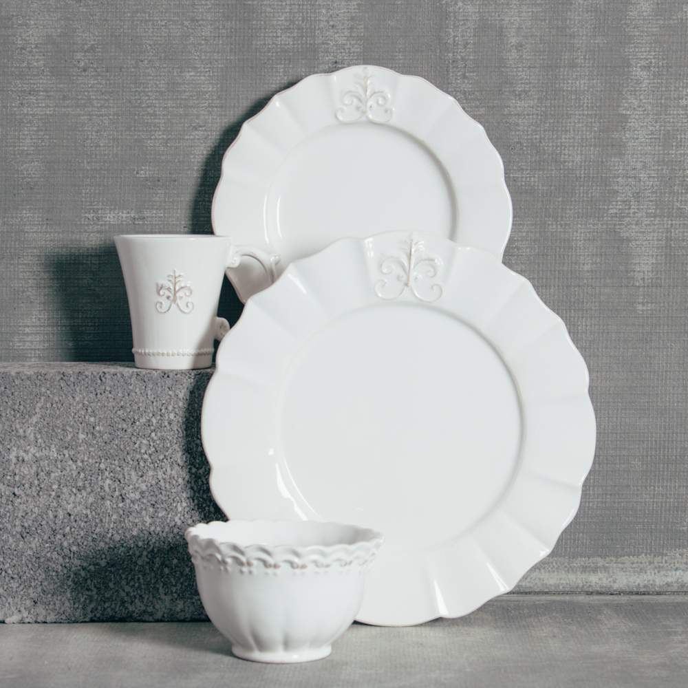 Verona Fleur De Lis Dinnerware Collection Relish Decor