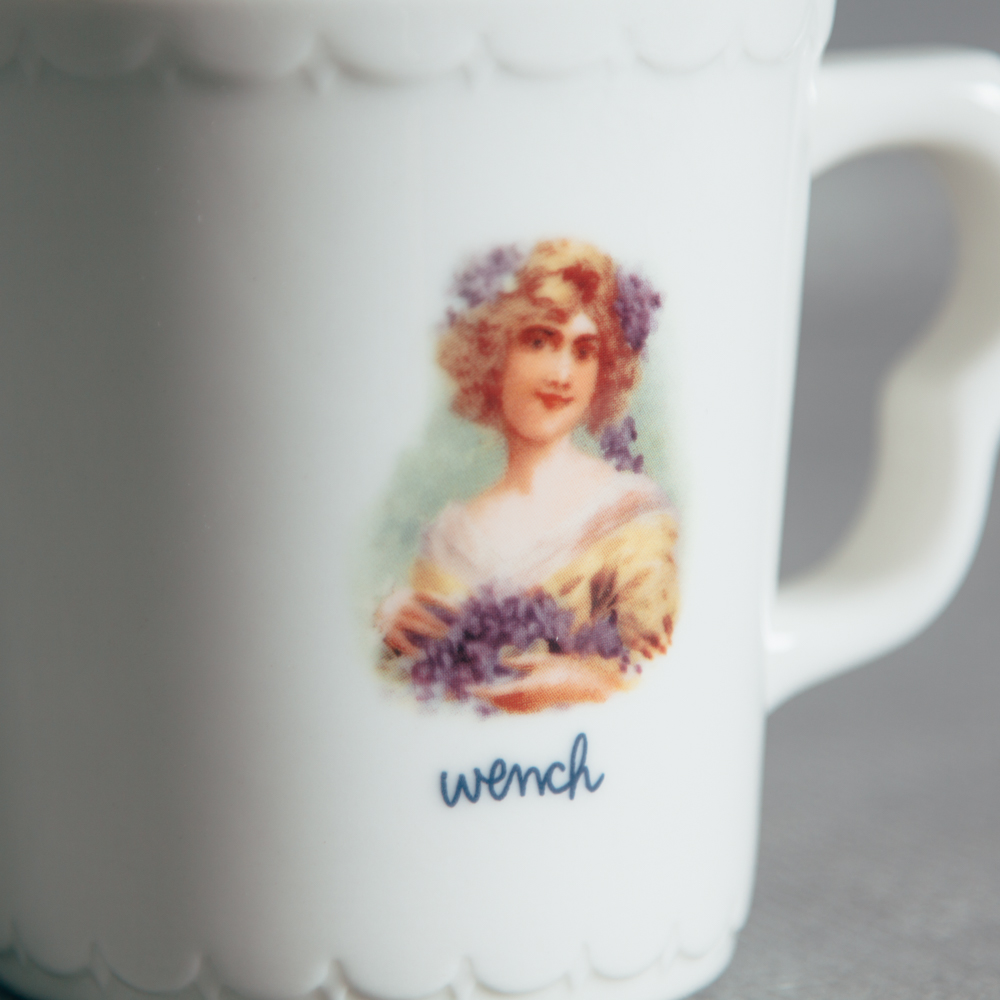Wench Portrait Coffee Mug Fishs Eddy Relish Decor