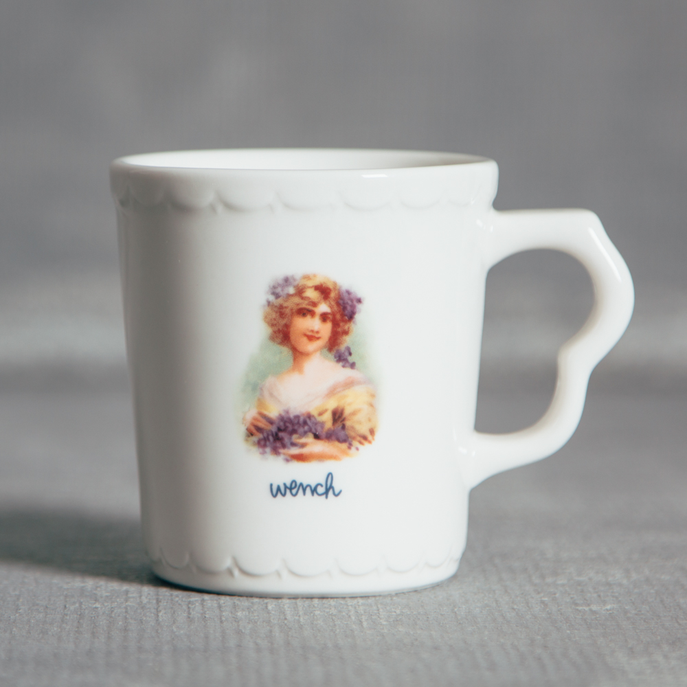 Wench Portrait Mug Fishs Eddy Relish Decor