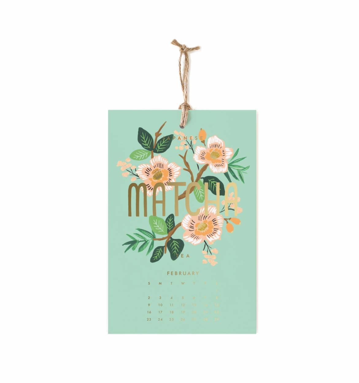 Coffee Tea Wall Calendar