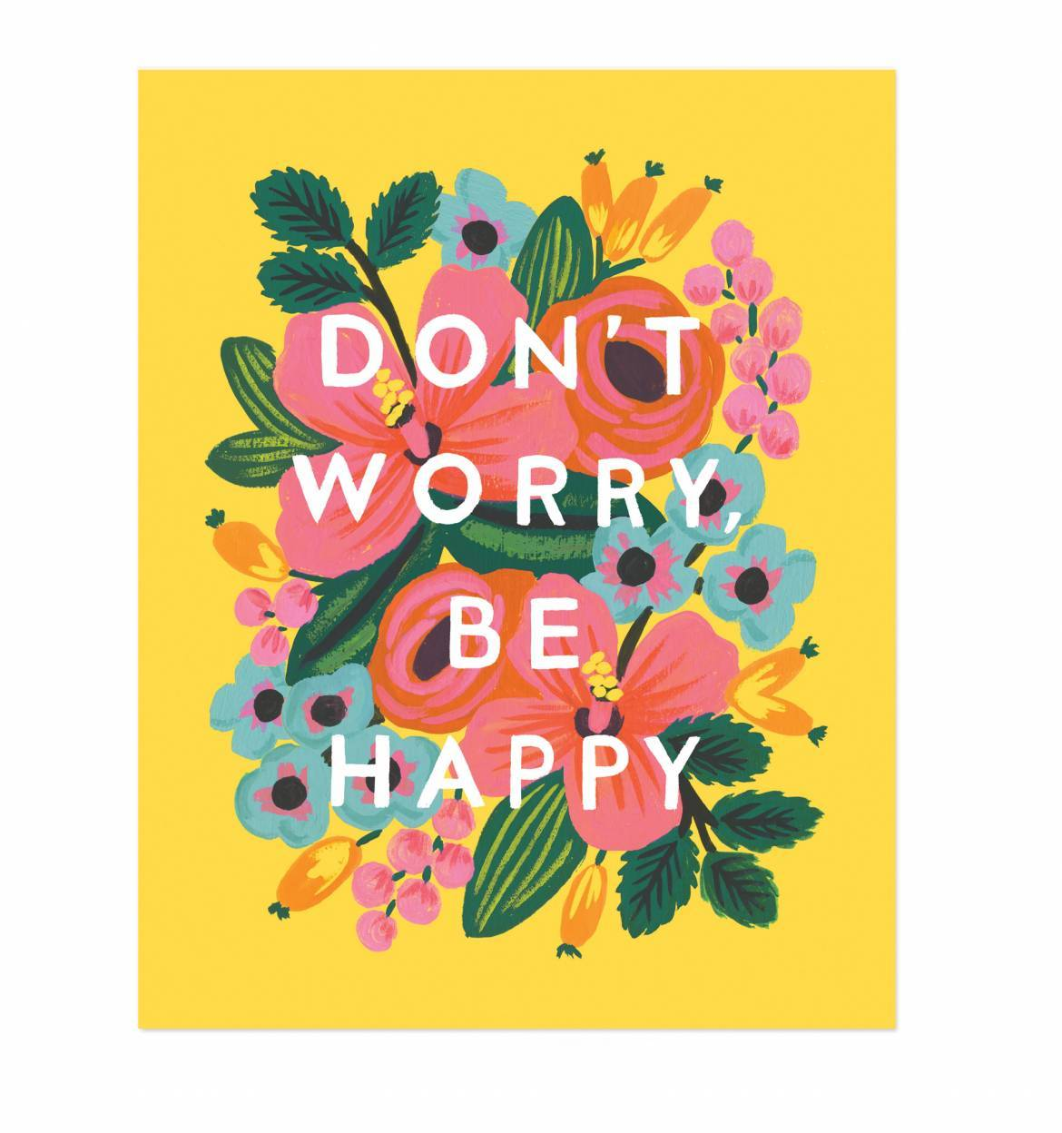 Affirmation wall art /'Don/'t Worry Be Happy/'