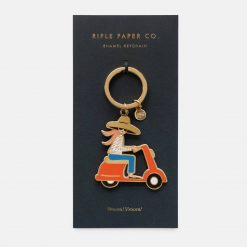 rifle-paper-co-scooter-girl-keychain-relish-decor