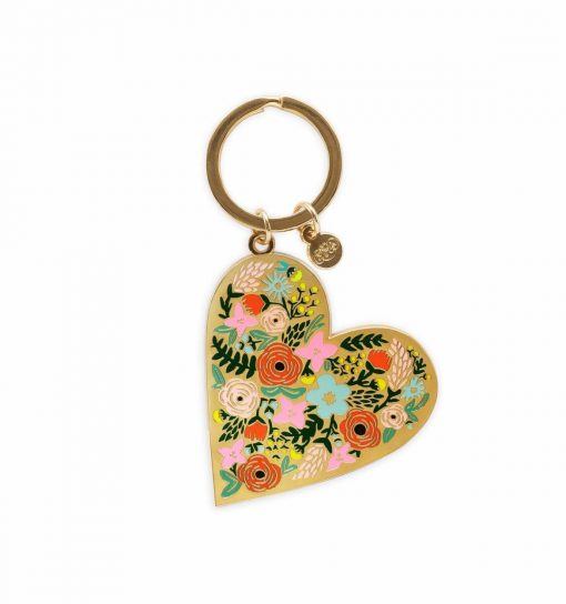 rifle-paper-co-floral-heart-keychain-relish-decor