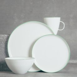relish decor abbesses canvas home dinnerware green place setting