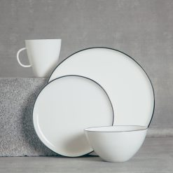 relish decor abbesses canvas home dinnerware black place setting