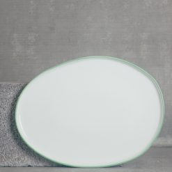 relish decor abbesses serving canvas home dinnerware large oval platter green