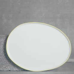 relish decor abbesses serving canvas home dinnerware large oval platter yellow