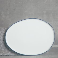 relish decor abbesses serving canvas home dinnerware large oval platter blue