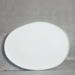 relish decor abbesses serving canvas home dinnerware large oval platter grey