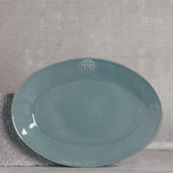 relish decor casafina serving oval forum platter large blue