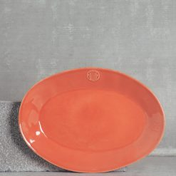 relish decor casafina serving oval forum platter large paprika