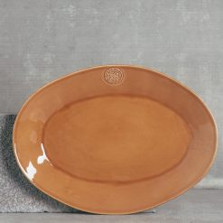 relish decor casafina serving oval forum platter large cognac