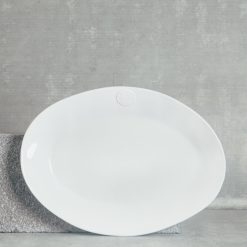 relish decor casafina serving oval forum platter large white