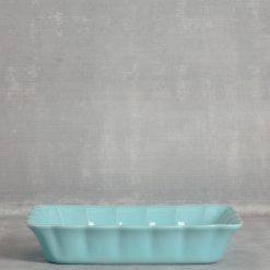 relish decor casafina serving rectangular baker turquoise
