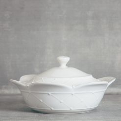 meridian relish decor casafina serving covered casserole dish white