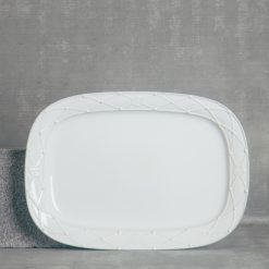 relish decor casafina serving rectangular platter white