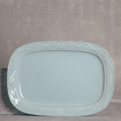 relish decor casafina serving rectangular platter blue
