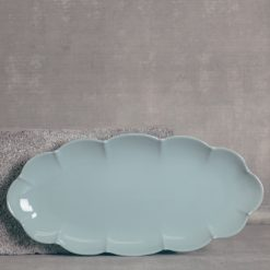 relish decor casafina serving oval tray blue