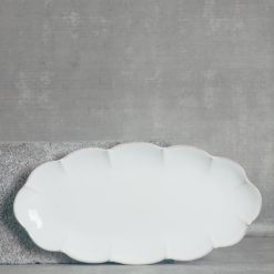 relish decor casafina serving oval tray white