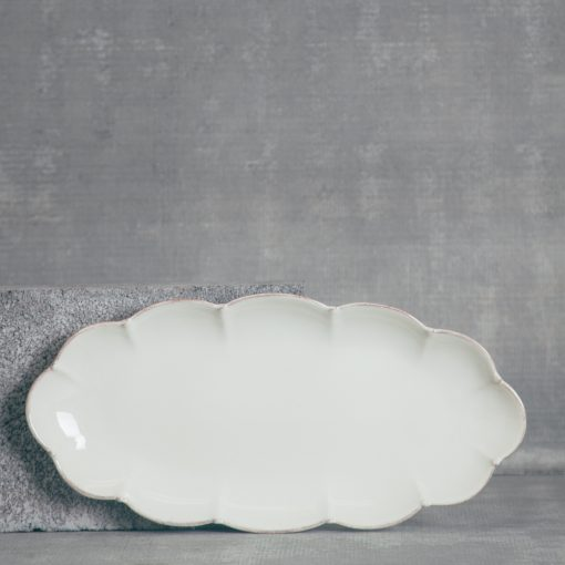 relish decor casafina serving oval tray cream