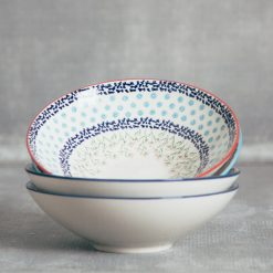 relish decor chelsea dinnerware serveware polish pottery cereal soup salad bowls
