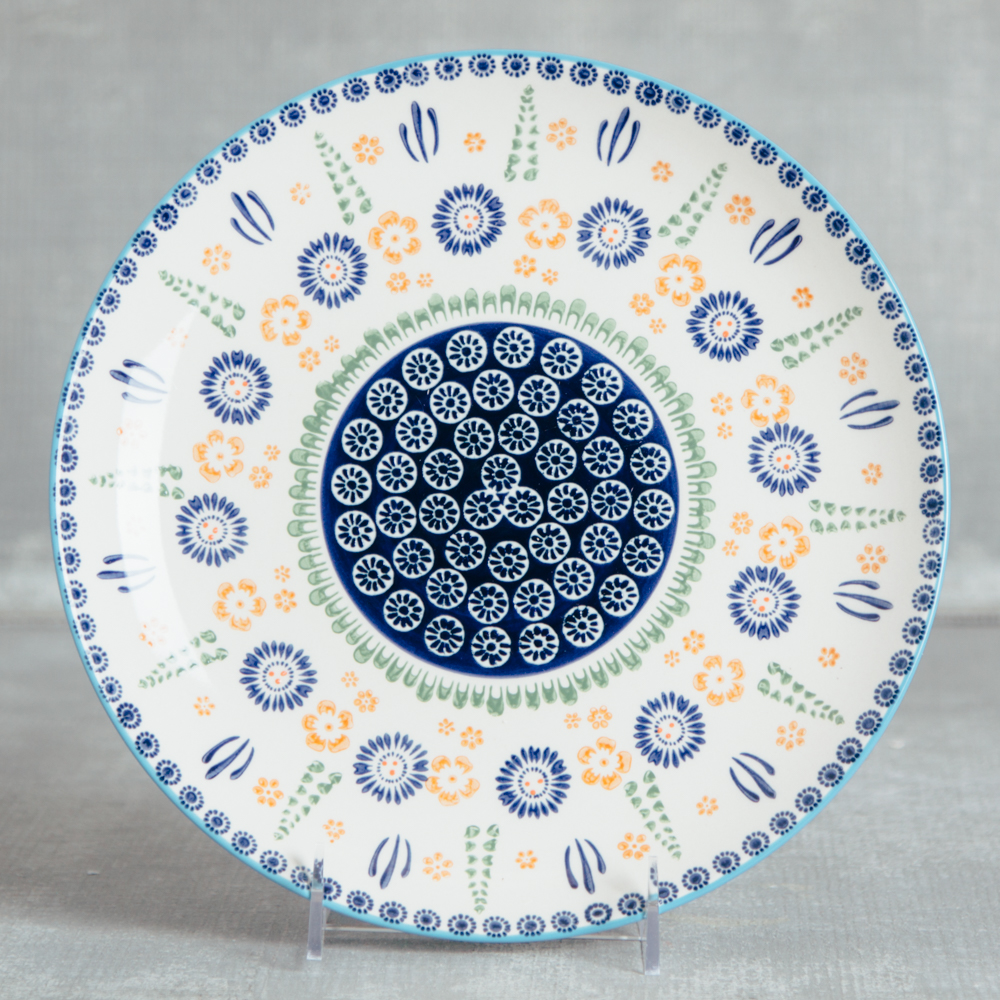 relish decor chelsea dinnerware serveware polish pottery dinner plate sky  sc 1 st  Relish Decor & Chelsea Dinner Plate - Relish Decor