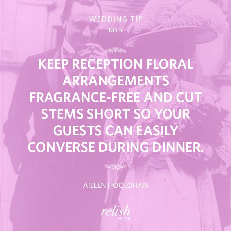 relish decor wedding tip number 5 floral arrangement centerpiece idea registry