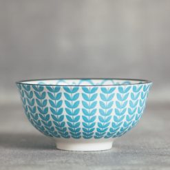 relish decor lotta patterned bowls blue