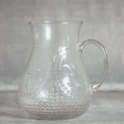relish decor la fleur de lis hobnail glassware collection and pitcher clear serving pitcher