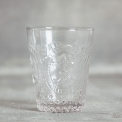 relish decor la fleur de lis hobnail glassware collection and pitcher clear DOF tumbler