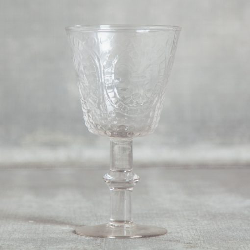 relish decor la fleur de lis hobnail glassware collection and pitcher clear goblet wine