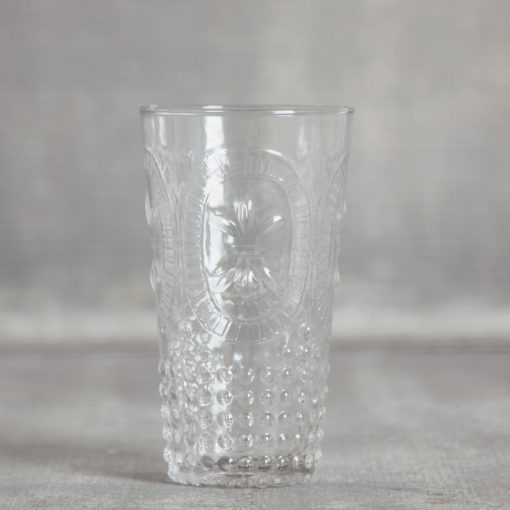 relish decor la fleur de lis hobnail glassware collection and pitcher clear highball tumbler