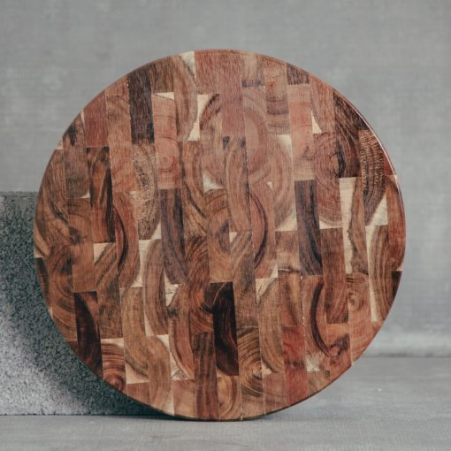 relish decor round end grain cutting board sienna