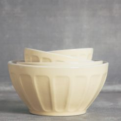 relish decor erin ceramic thumbprint mixing bowl set yellow