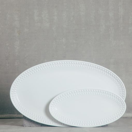 relish decor lobjet perlee white serving platter oval large small