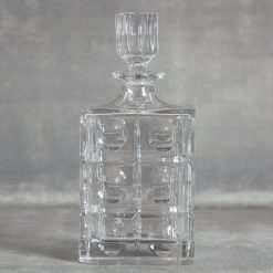 relish decor lenox reed and barton odeon crystal square decanter