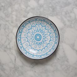 relish decor lotta patterned plates blue
