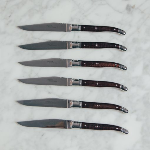 relish decor laguiole snakewood steak knife set french