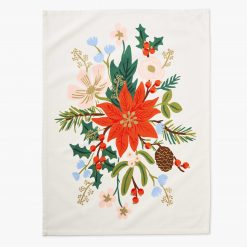 rifle-paper-co-holiday-bouquet-tea-towel-relish-decor