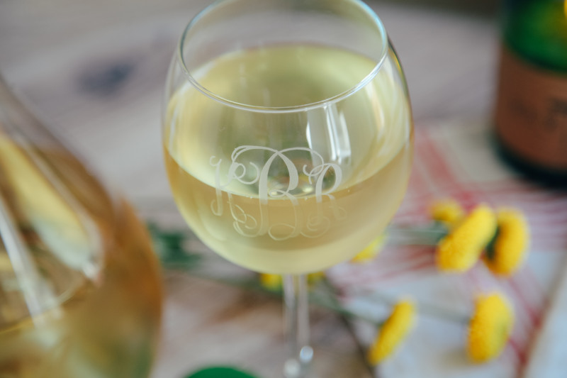 white wine relish decor monogram glass spring blog top five